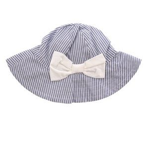 Janie and Jack Striped Bow Bucket Hat, 12-18M NEW
